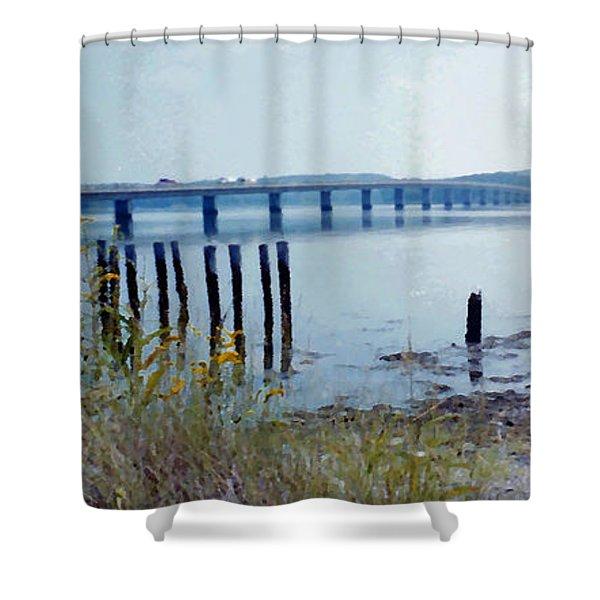 Maine Highway Shower Curtain