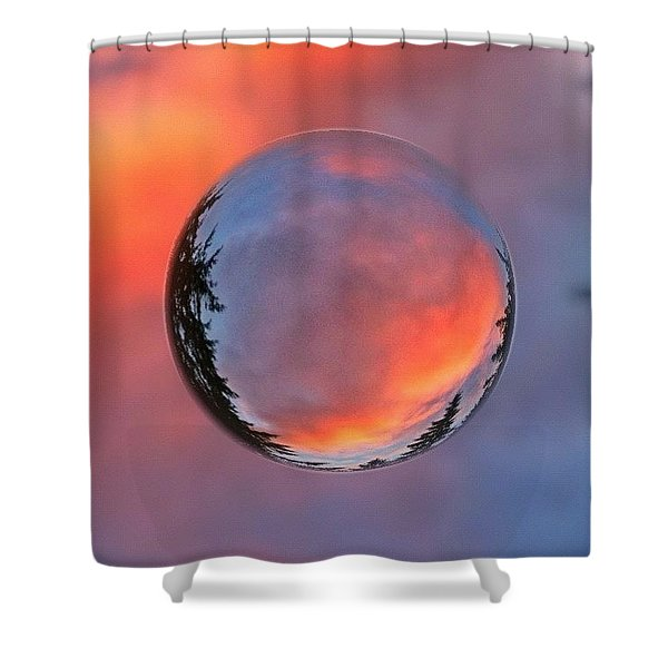 Sunset In A Marble Shower Curtain