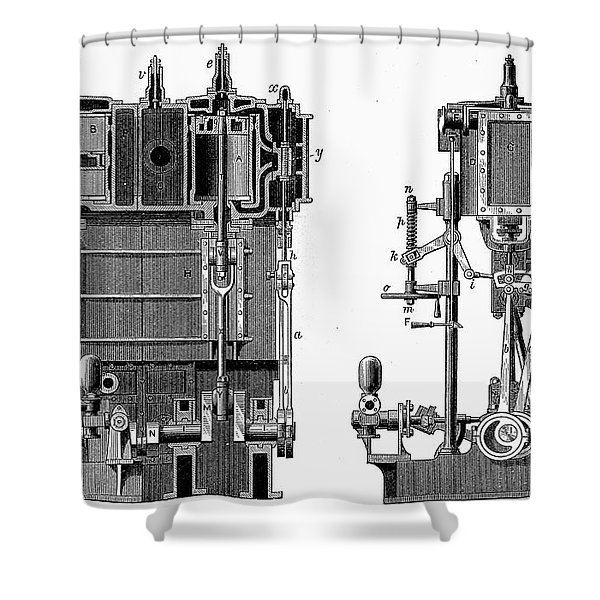 Marine Steam Engine, 1878 Shower Curtain
