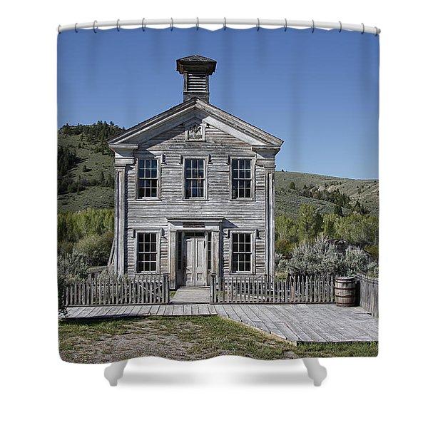 Masonic Temple 3 - Bannack Montana Shower Curtain