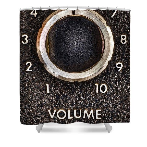 Master Volume Shower Curtain