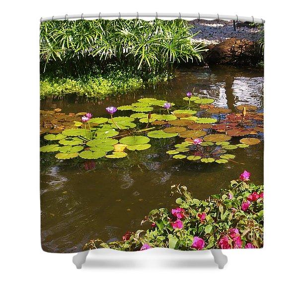 Maui Pond Shower Curtain