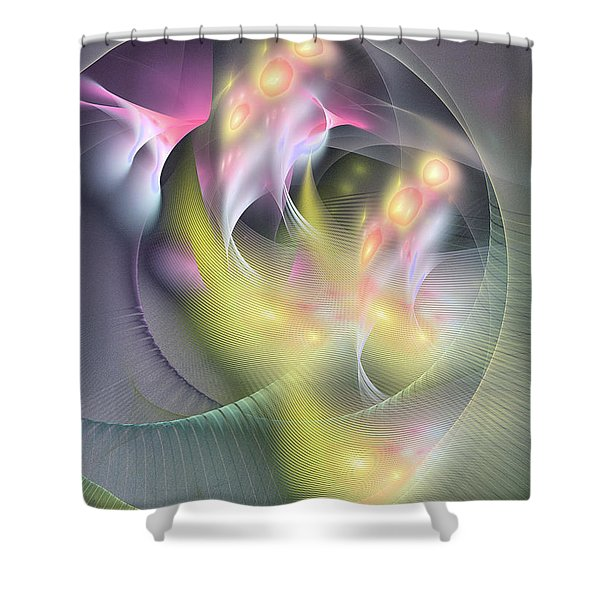 Memoria Futurorum -abstract Art Shower Curtain