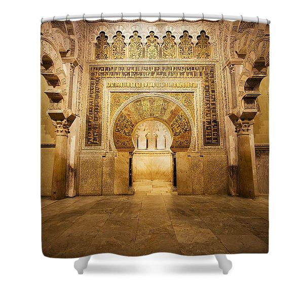 Mezquita Mihrab In Cordoba Shower Curtain