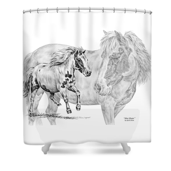 Mini Magic - Miniature Horse Art Print Shower Curtain