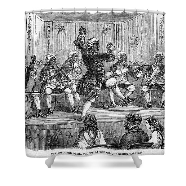 Minstrel Show, 1858 Shower Curtain