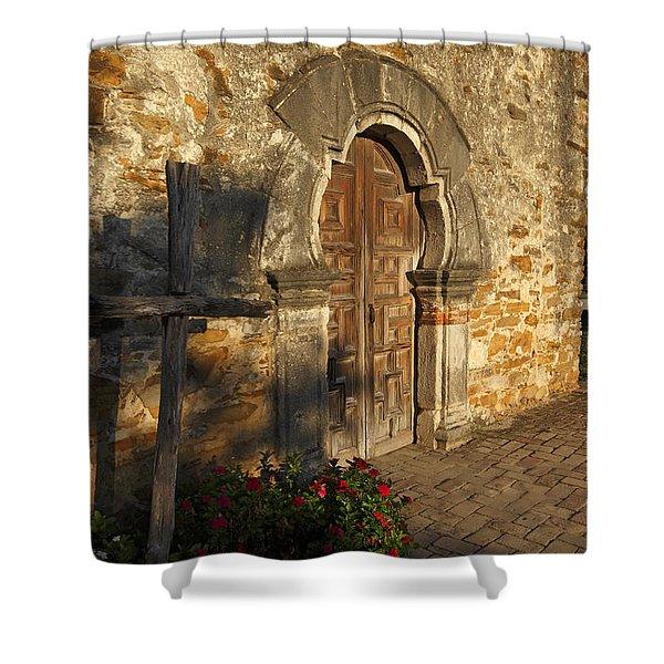 Mission Espada Shower Curtain
