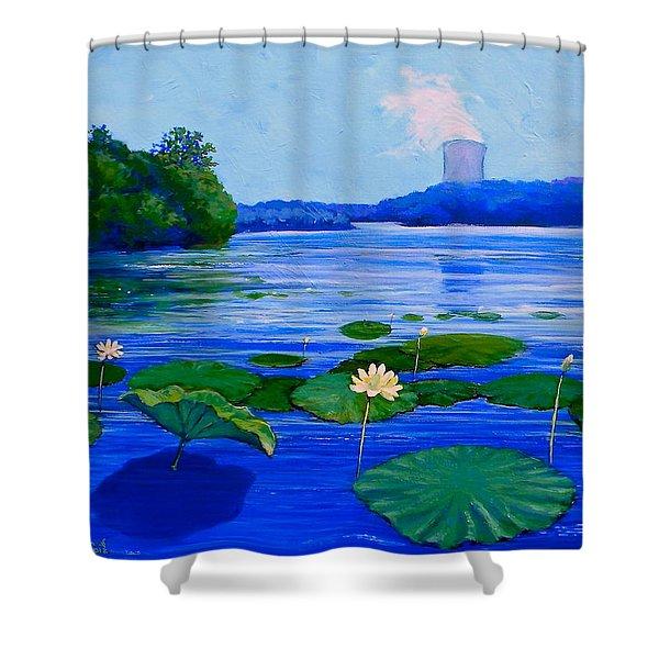 Modern Mississippi Landscape Shower Curtain