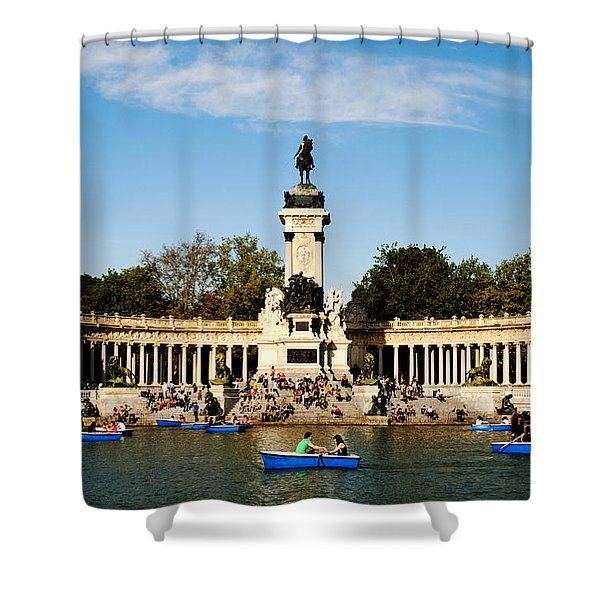 Monument To Alfonso Xii Shower Curtain