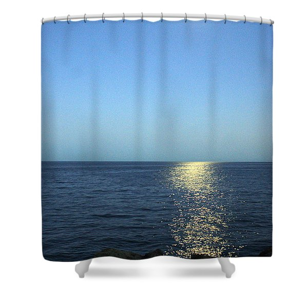 Moon And Water Shower Curtain