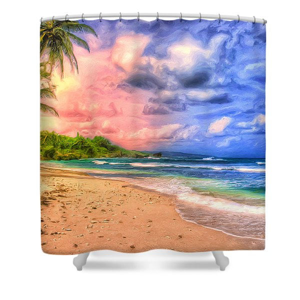 Morning Light Bali Shower Curtain