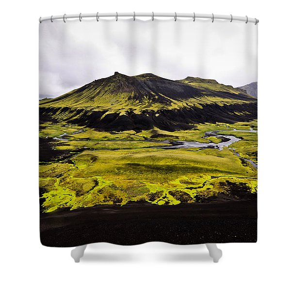 Moss In Iceland Shower Curtain