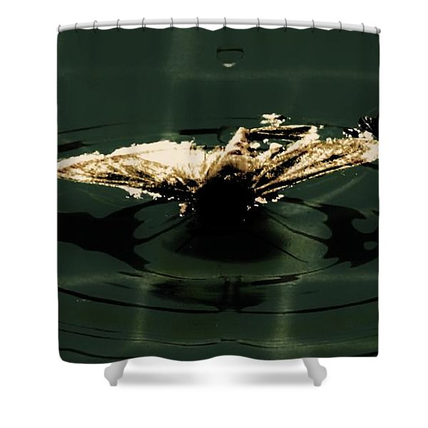 Moth Ripples Shower Curtain