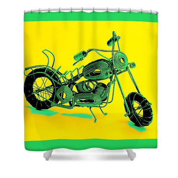 Motorbike 1b Shower Curtain