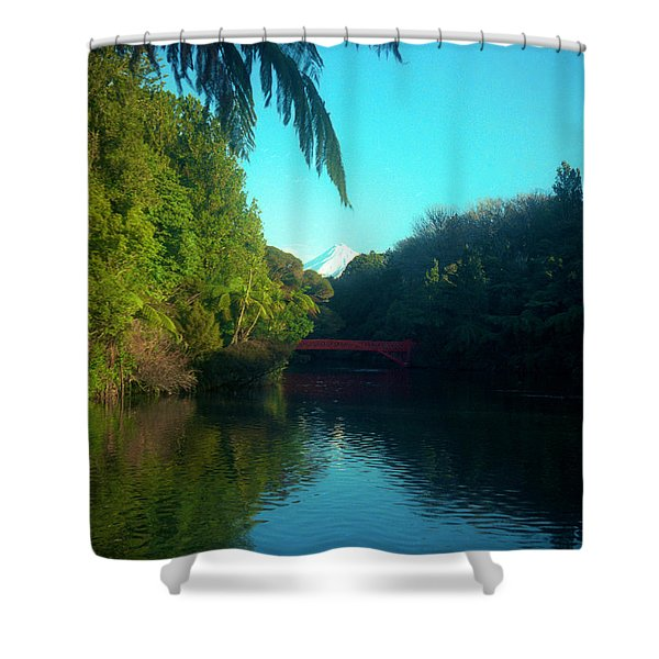 Mount Taranaki Aka Mt Egmont New Zealand Shower Curtain