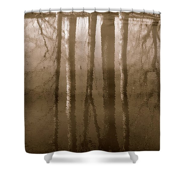 Muddy Waters Shower Curtain