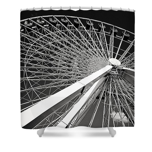 Navy Pier Ferris Wheel Shower Curtain