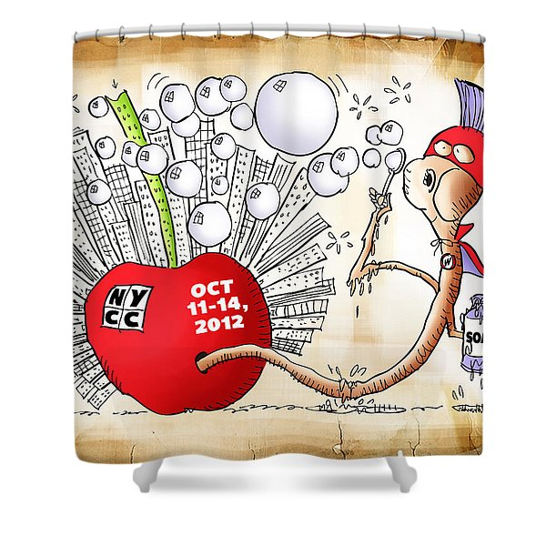 New York Comic Con 2012 Shower Curtain
