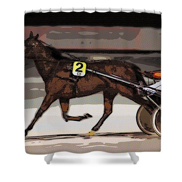 Night Trotter Shower Curtain