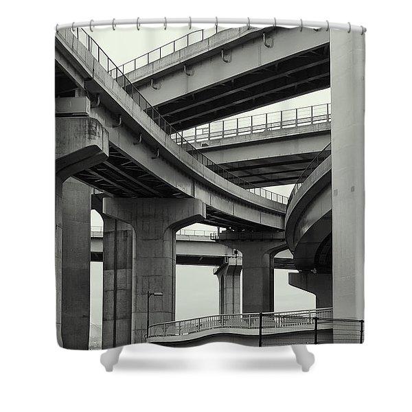 Nippon Super Expressway -- Kansai Japan Shower Curtain