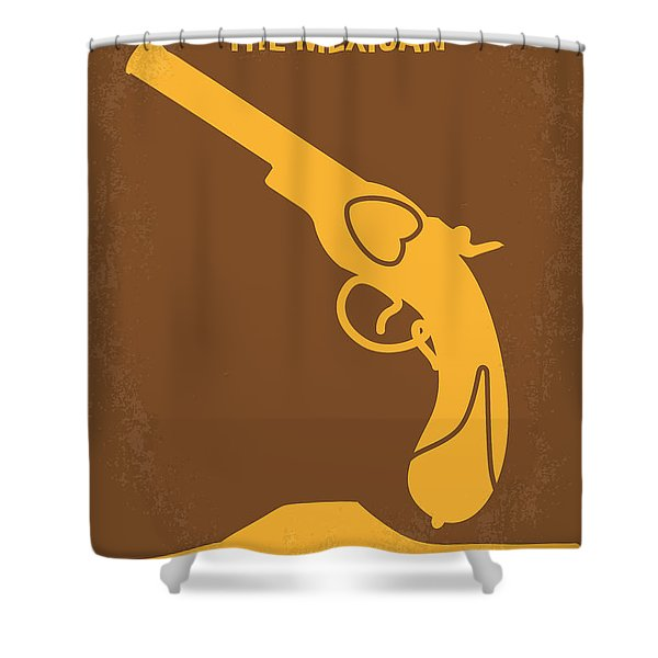 No077 My The Mexican Minimal Movie Poster Shower Curtain