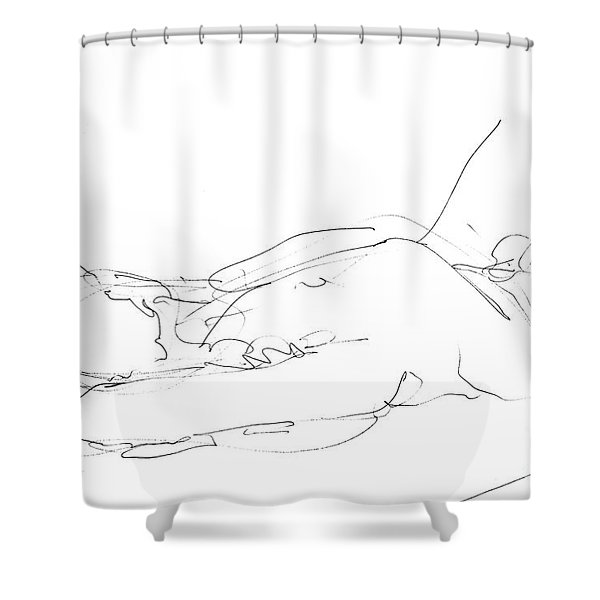 Nude-male-drawings-12 Shower Curtain