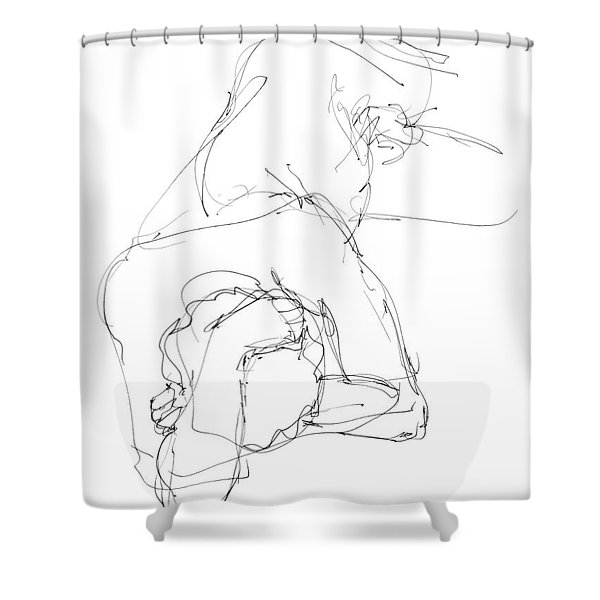 Nude Male Drawings 7 Shower Curtain