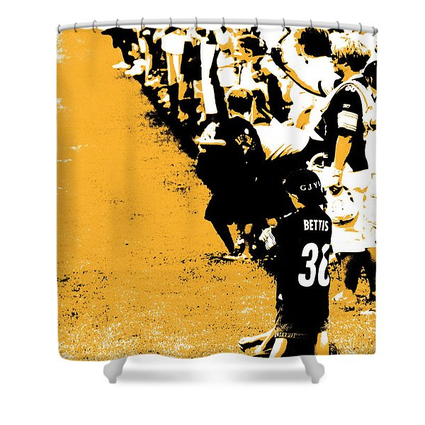 Number 1 Bettis Fan - Black And Gold Shower Curtain