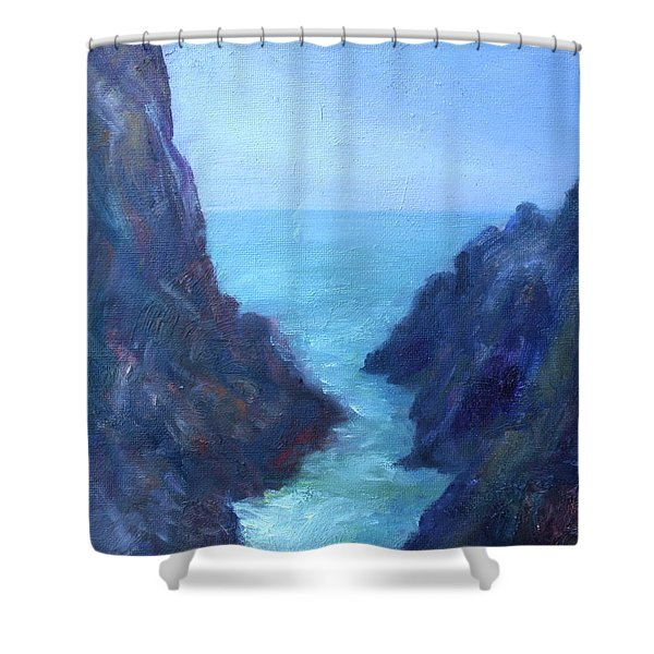 Ocean Chasm Shower Curtain