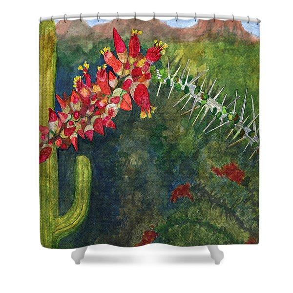 Ocotillo Spring Shower Curtain