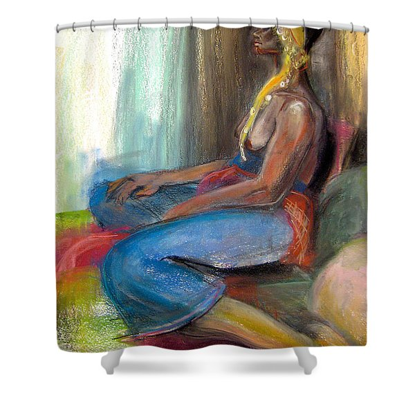 Shower Curtain featuring the drawing Royal by Gabrielle Wilson-Sealy