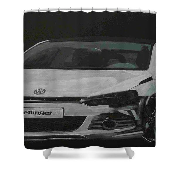 Oettinger Vw Scirocco  Shower Curtain