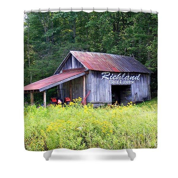 Old Barn Near Silversteen Road Shower Curtain