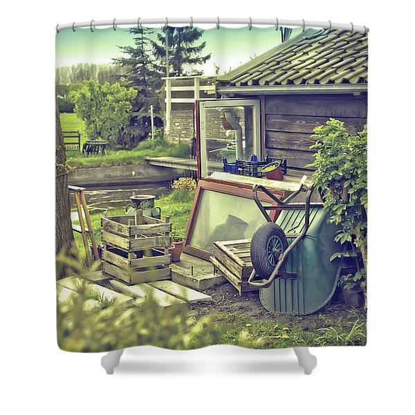 Old Country House Shower Curtain
