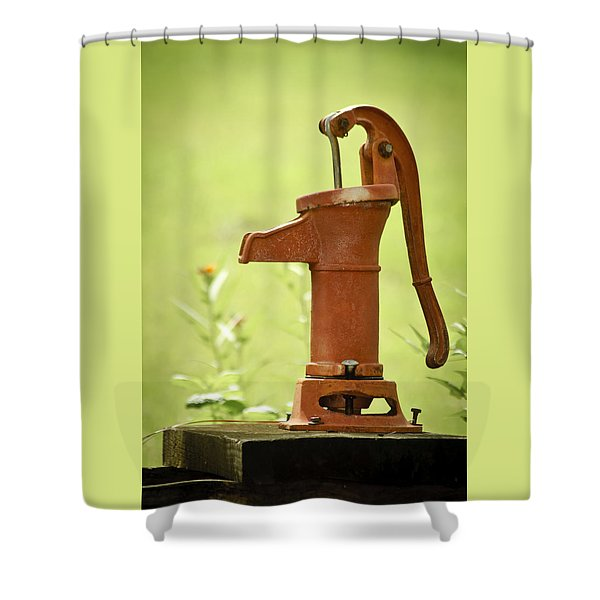 Old Fashioned Water Pump Shower Curtain