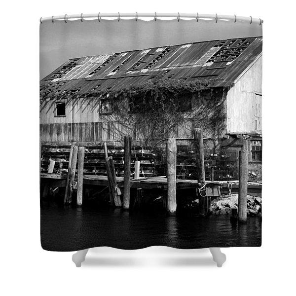 Old Fishing Wharf Shower Curtain