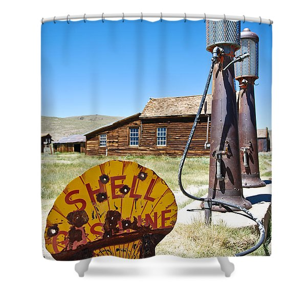 Old Gas Pumps Shower Curtain