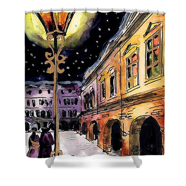Old Time Evening Shower Curtain