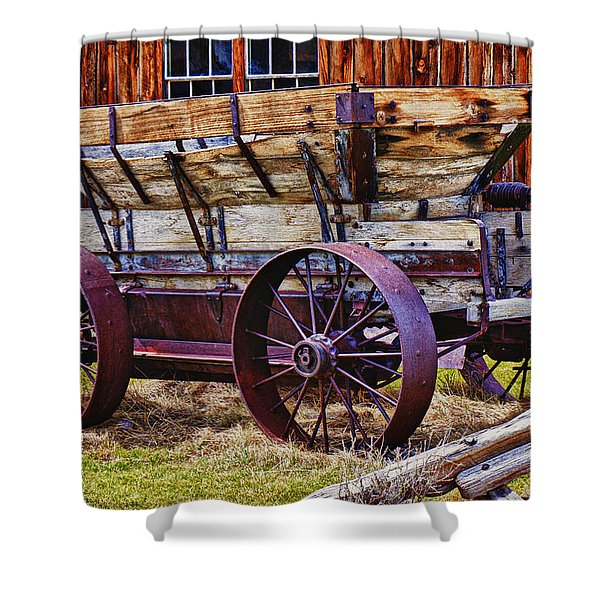 Old Wagon Bodie Ghost Town Shower Curtain