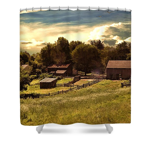 Olden Times Shower Curtain