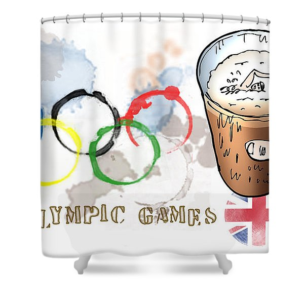 Olympic Rings Shower Curtain