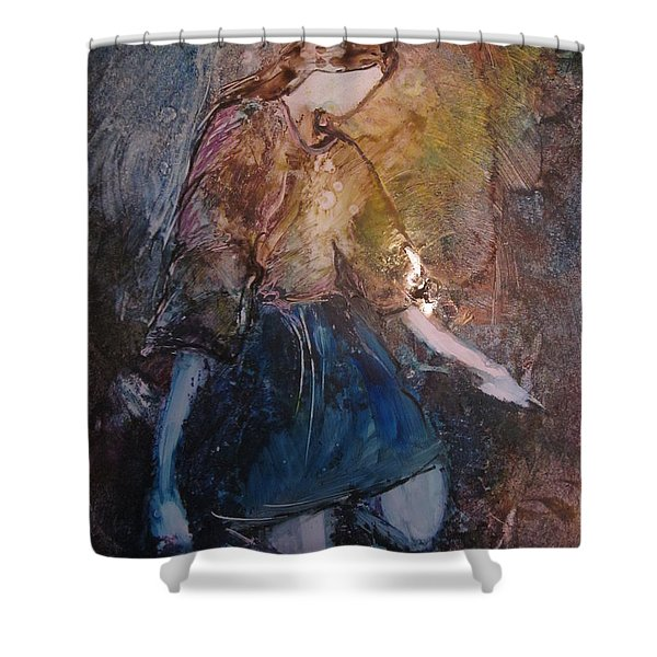 Shower Curtain featuring the painting Amazing Grace by Deborah Nell