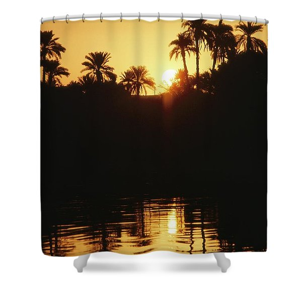 On The Horizon A Large Shower Curtain