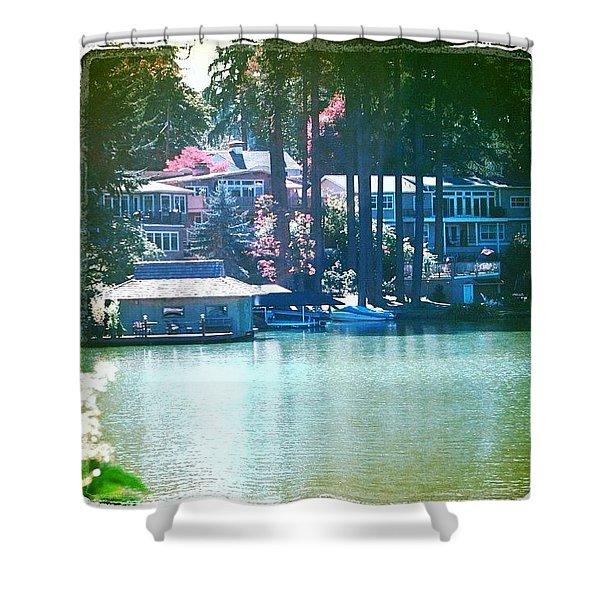 On The Lake - Lake Oswego Or Shower Curtain