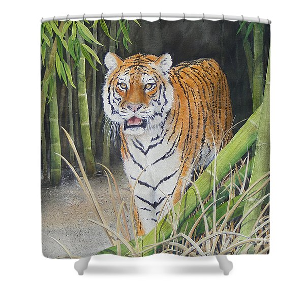 On The Prowl  Sold Prints Available Shower Curtain