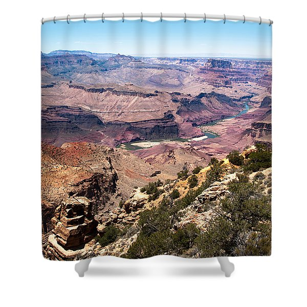 On The Rim Shower Curtain