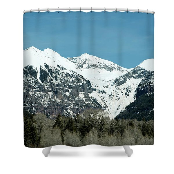 Shower Curtain featuring the photograph On The Road To Telluride by Lorraine Devon Wilke