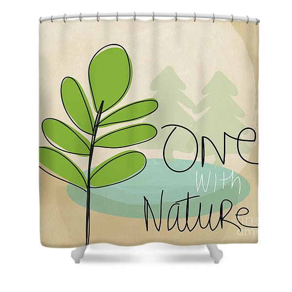 One With Nature Shower Curtain