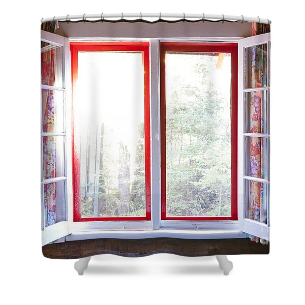 Open Window In Cottage Shower Curtain