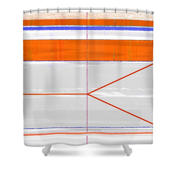 Orange Triangle Shower Curtain